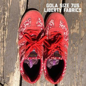 Gola Bullet Style Sneakers in Liberty Fabric